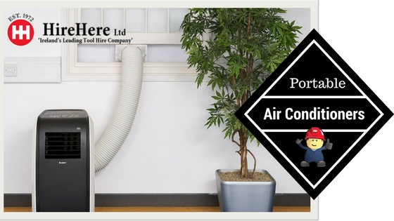 portable air conditioners for hire at Hire Here Ltd Dublin