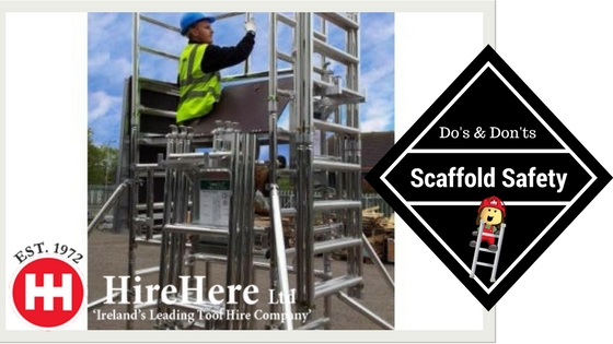 Working on Scaffolds Safety Tips Hire Here ltd Dublin
