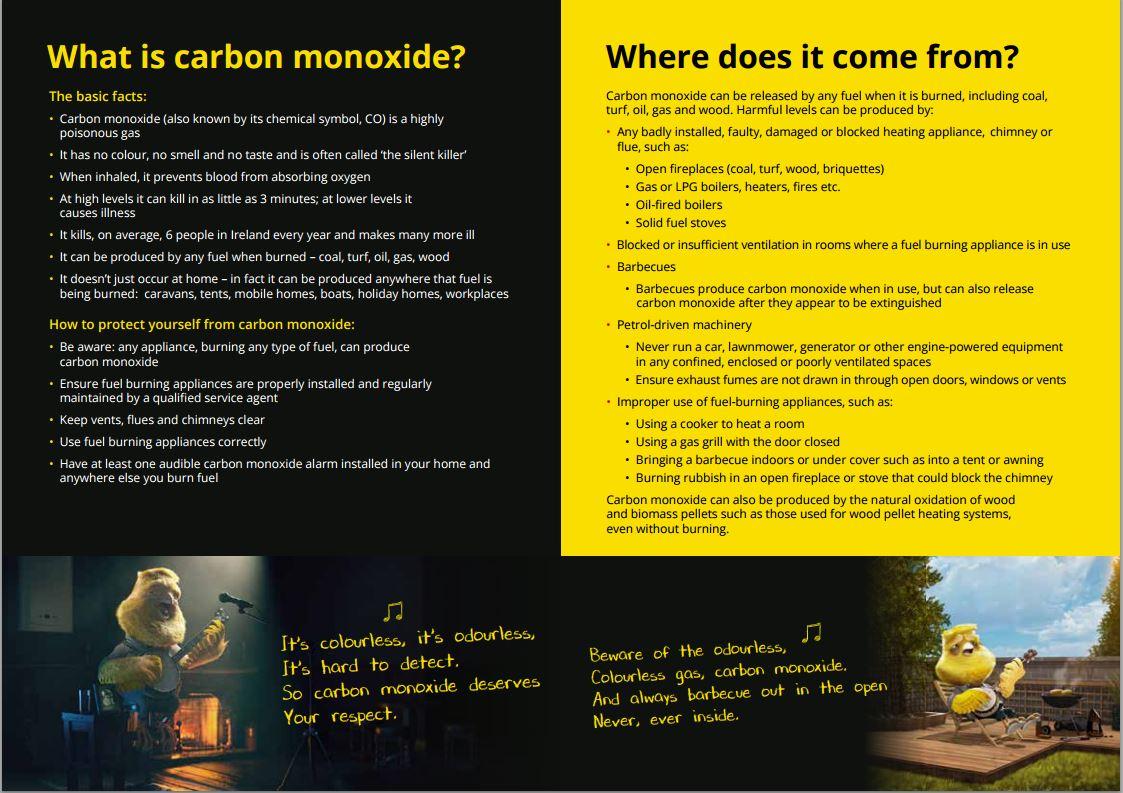 carbon monoxide awareness week Hire Here Ltd Dublin