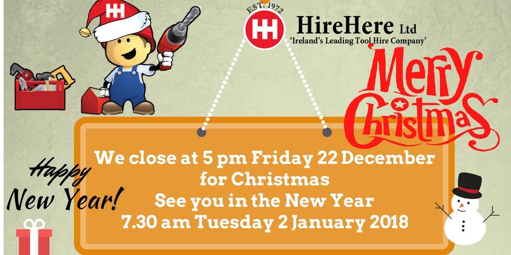 Happy Christmas from Hire Here Ltd Dublin