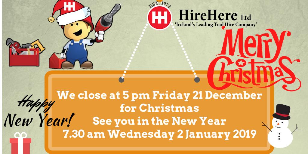 Hire Here Ltd Dublin Christmas 2018