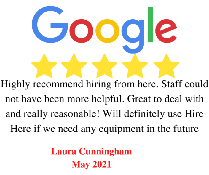 Hire Here Ltd Dublin Google 5 Star Review May 2021