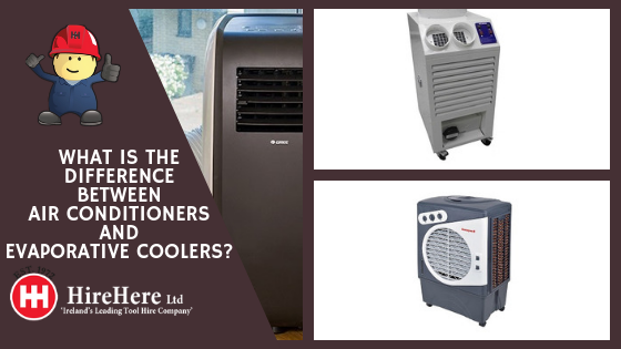 what is the difference between air conditioners and evaporative coolers