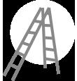 folding telescopic ladder 90 degree configeration