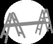 folding telescopic ladder scaffolding configeration