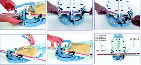 Tile cutting instructions